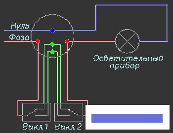 Конструктивно-проходной выключатель