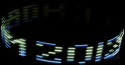 Новогодняя голографическая строка
