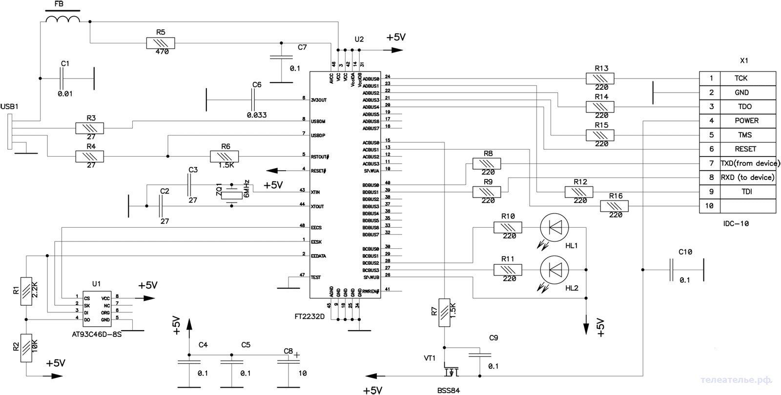 Универсальный USB программатор