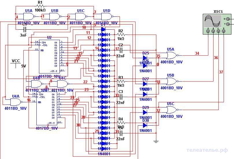 Генератор для преобразования 1 фазной сети в 3-х фазную