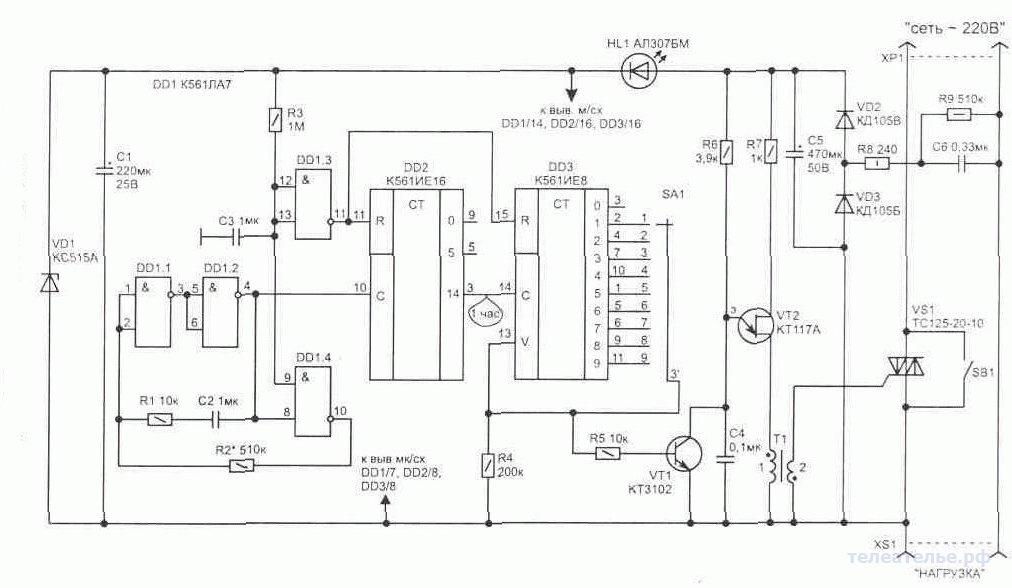 Таймер для ограничения времени работы зарядных устройств