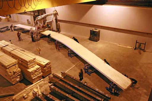 Изготовление клеевой древесины для строительства